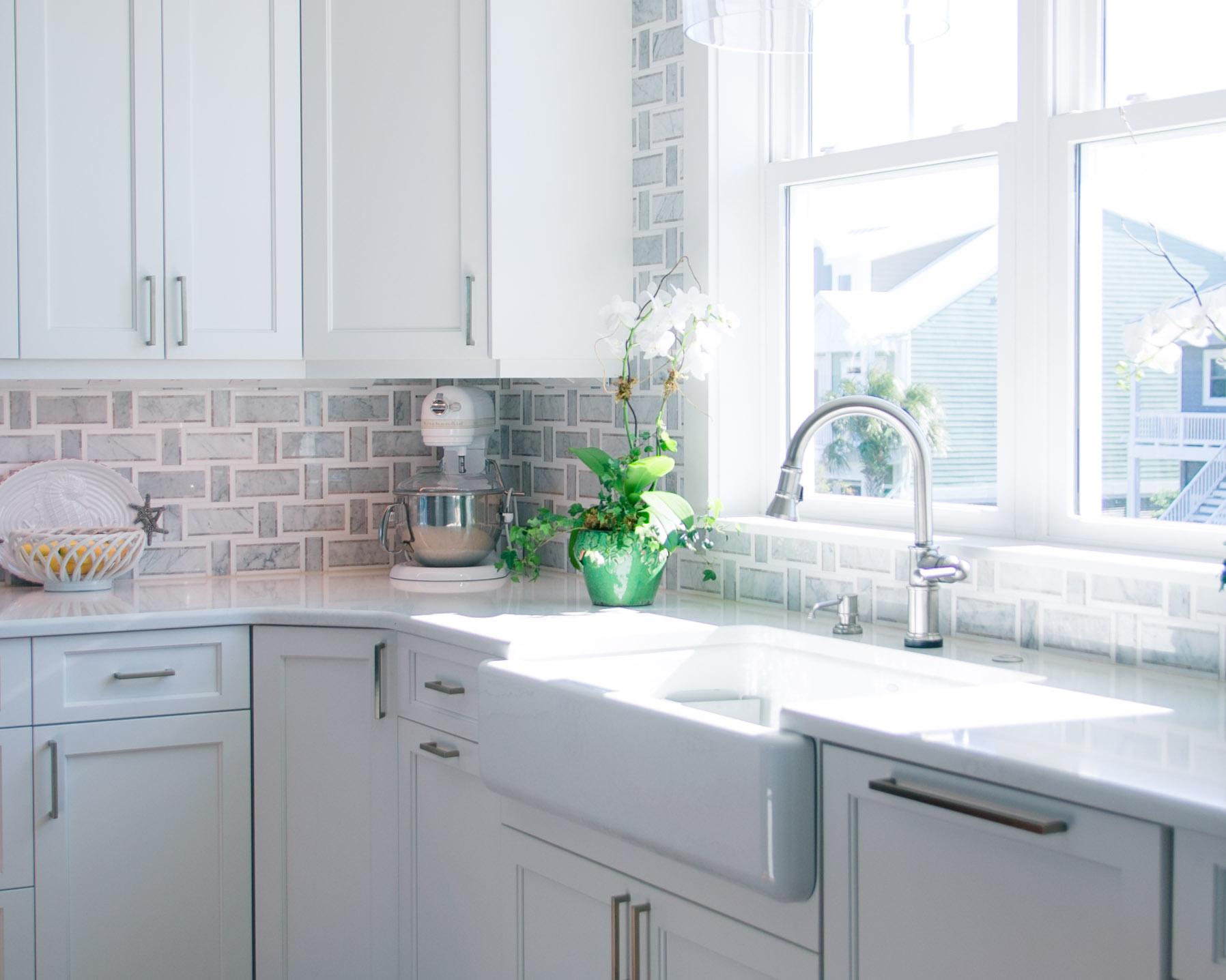 bright kitchen by custom builder