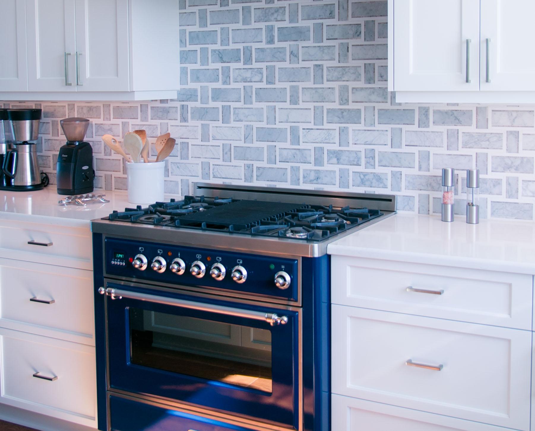 bright kitchen in luxury beach house