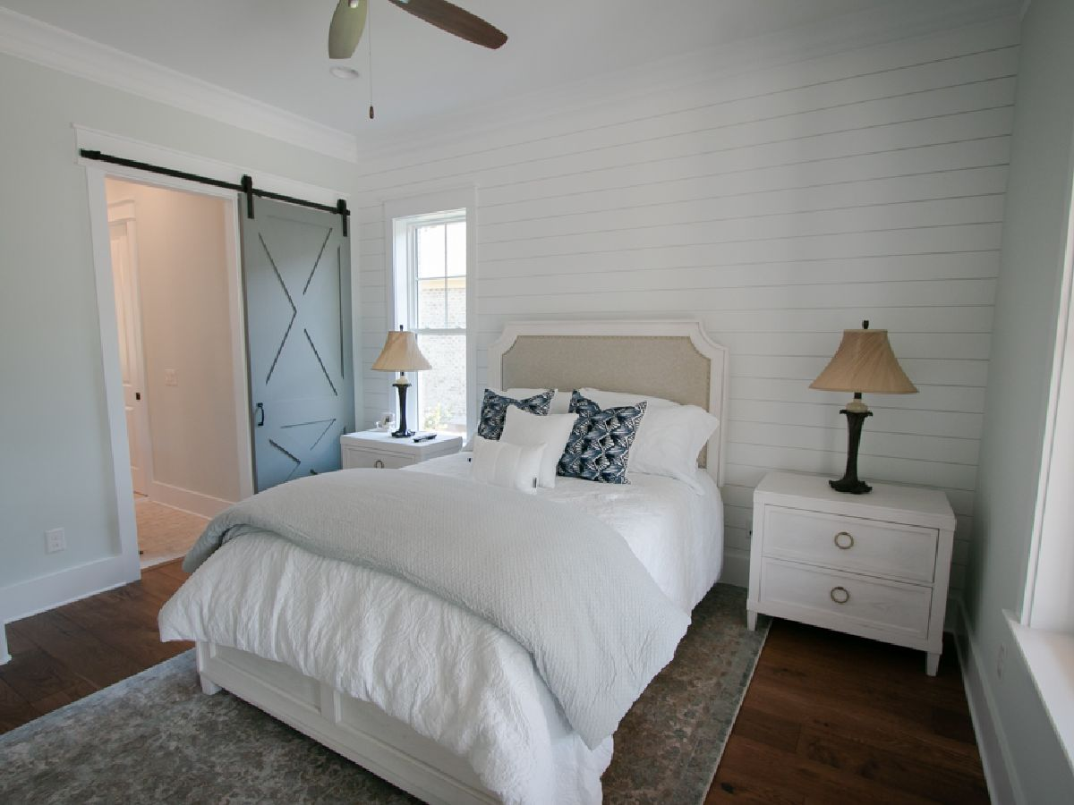 barn door in bedroom