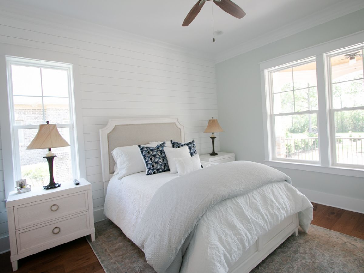 shiplap walls in custom Ocean Ridge home
