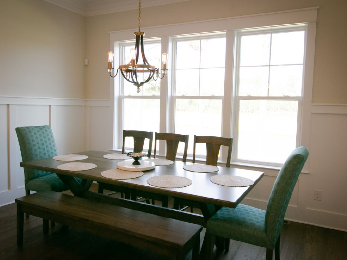 dining room in Ernest G Crews Construction home