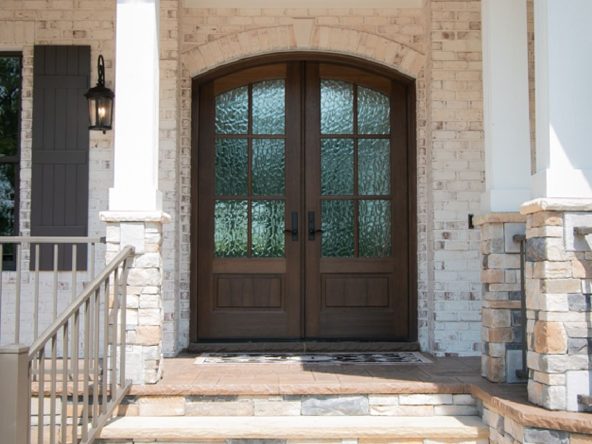 Inviting doorway in custom home