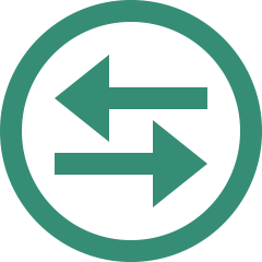 cross arrow green icon