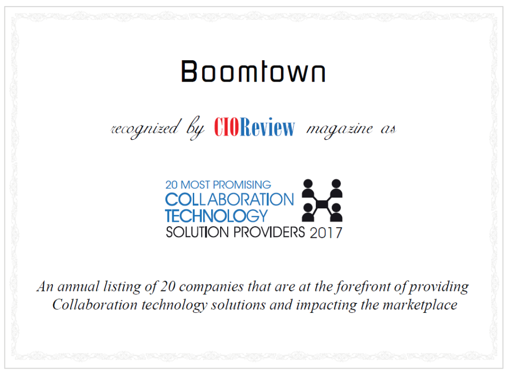 CIO Review Boomtown Collaboration Award