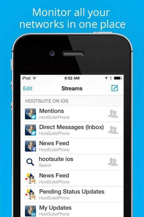 hootsuite mobile streams