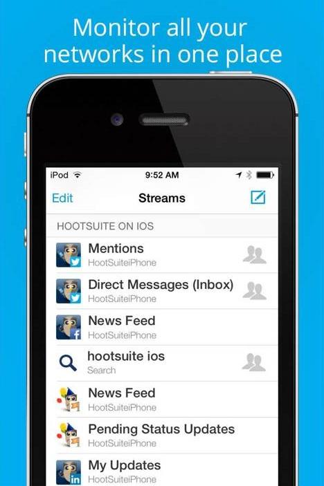hootsuite mobile streams