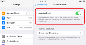 iPad Assistive Touch button