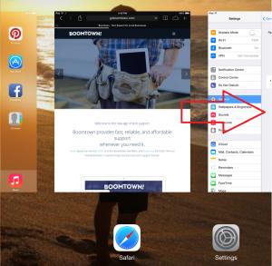 switch between iPad apps