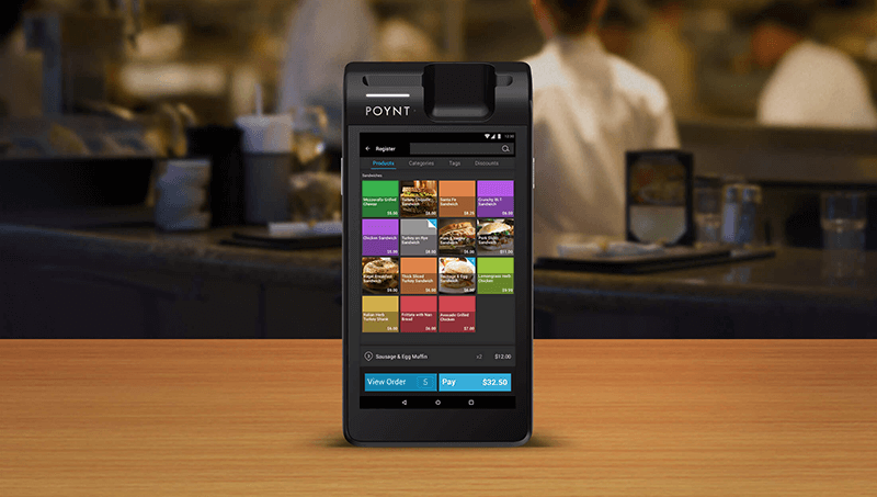 Talech app on Poynt for menus