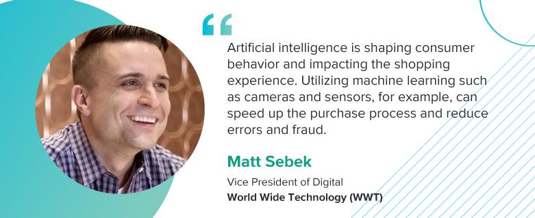 Matt Sebek, Vice President of Digital at World Wide Technology (WWT).
