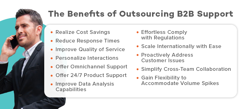 benefits of outsourcing b2b support
