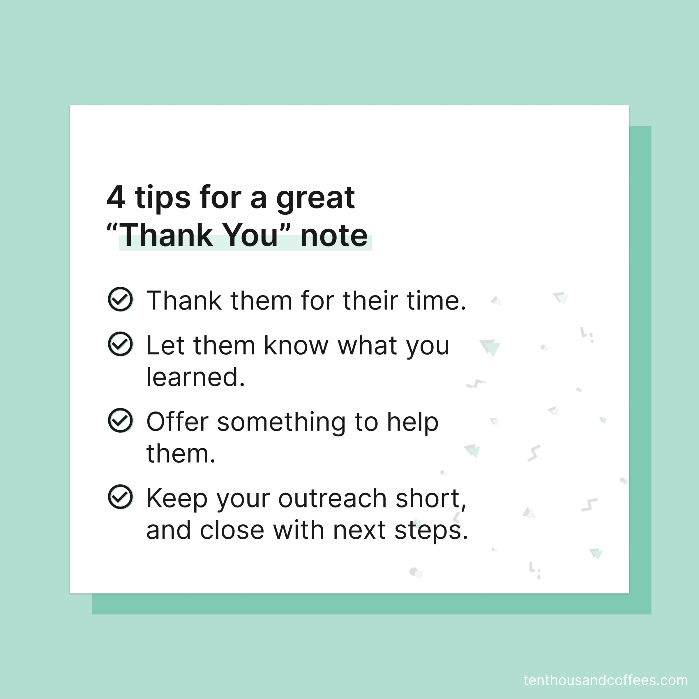 4 tips for a great thank you note