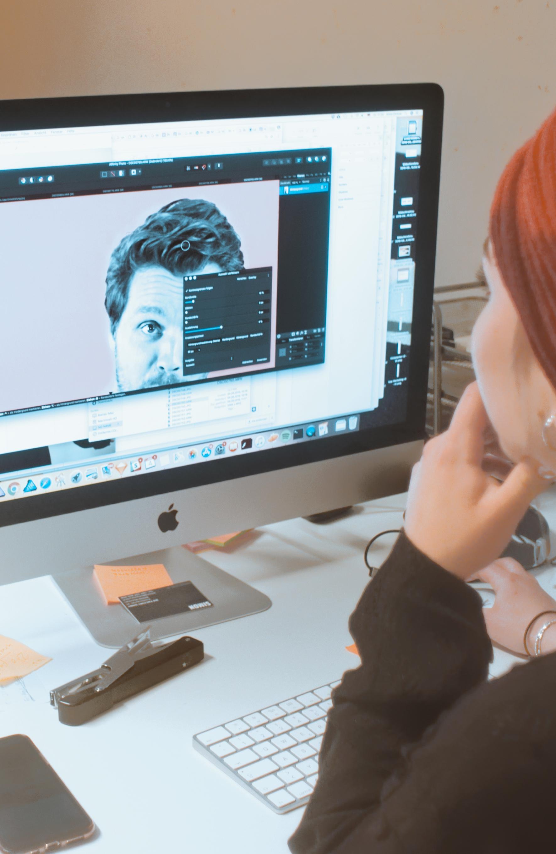 Arbeitsplatz von Maria Dickow beim UX Design
