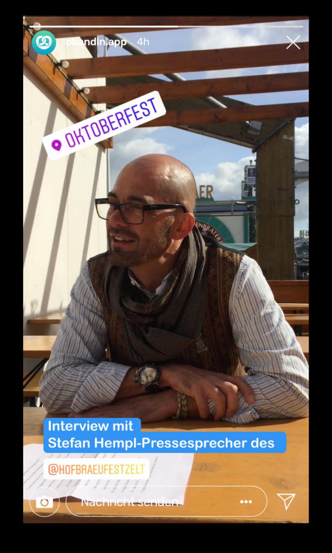 Instagram Story Oktoberfest Influencer Stefan Hempl