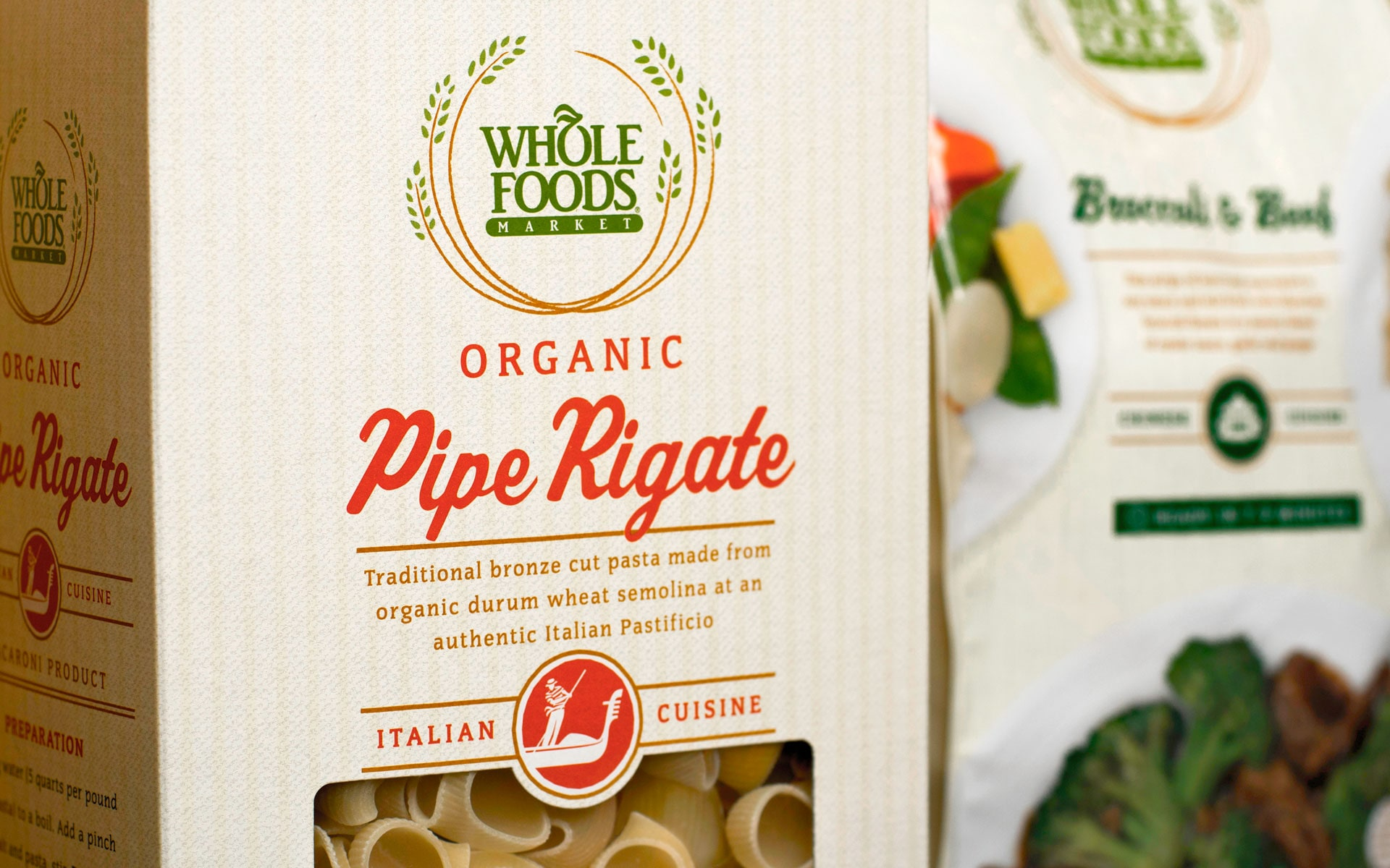 Whole Foods Market pasta packaging design