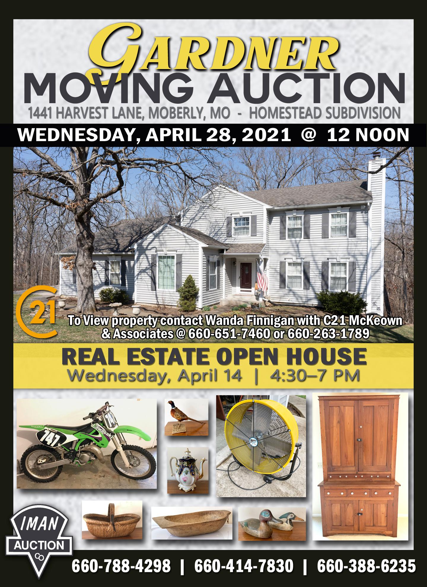 GARDNER MOVING AUCTION