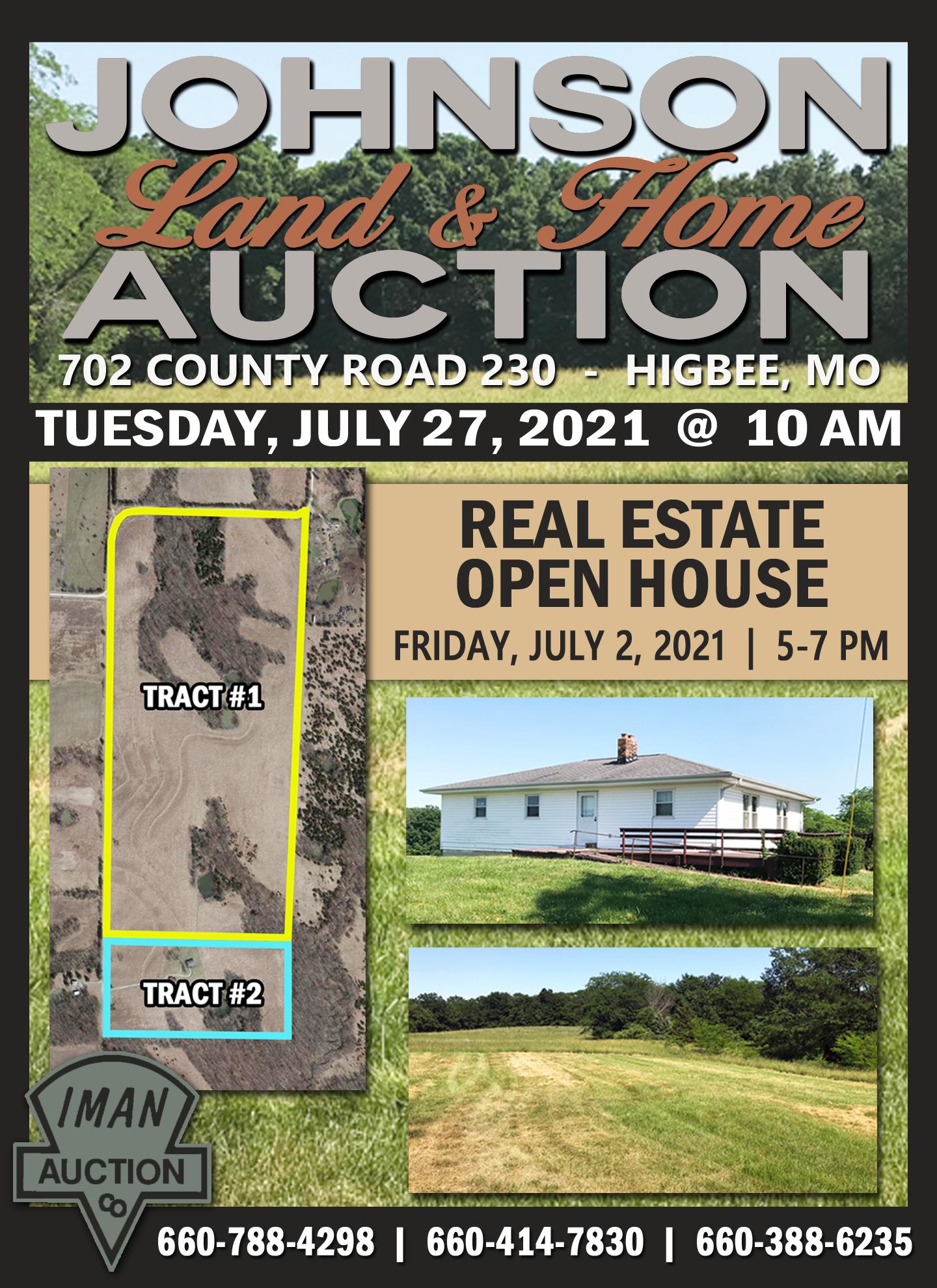 JOHNSON LAND & HOME AUCTION