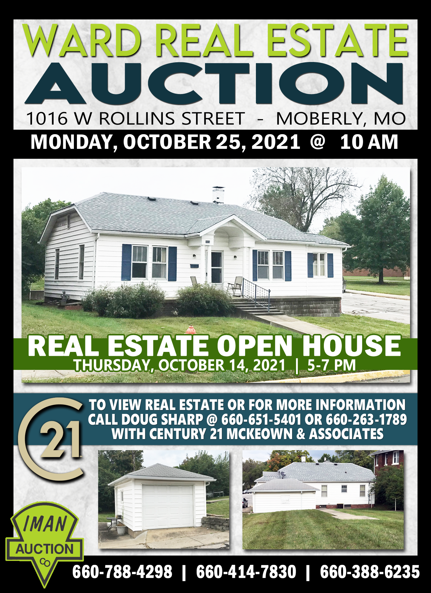 WARD REAL ESTATE AUCTION