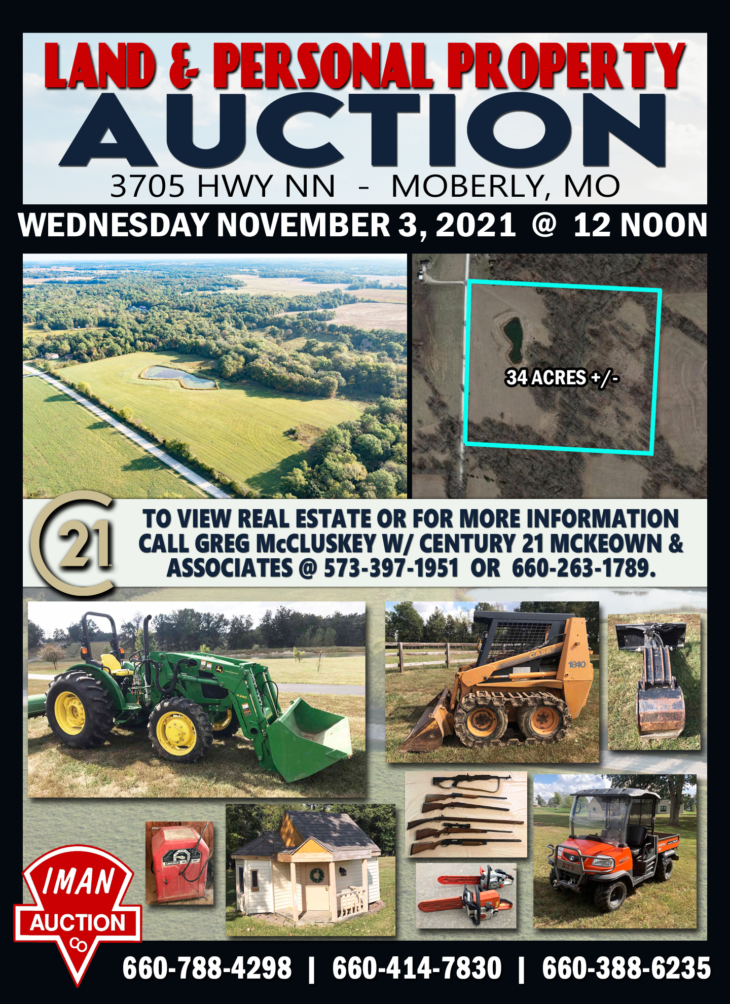 LAND & PERSONAL PROPERTY AUCTION