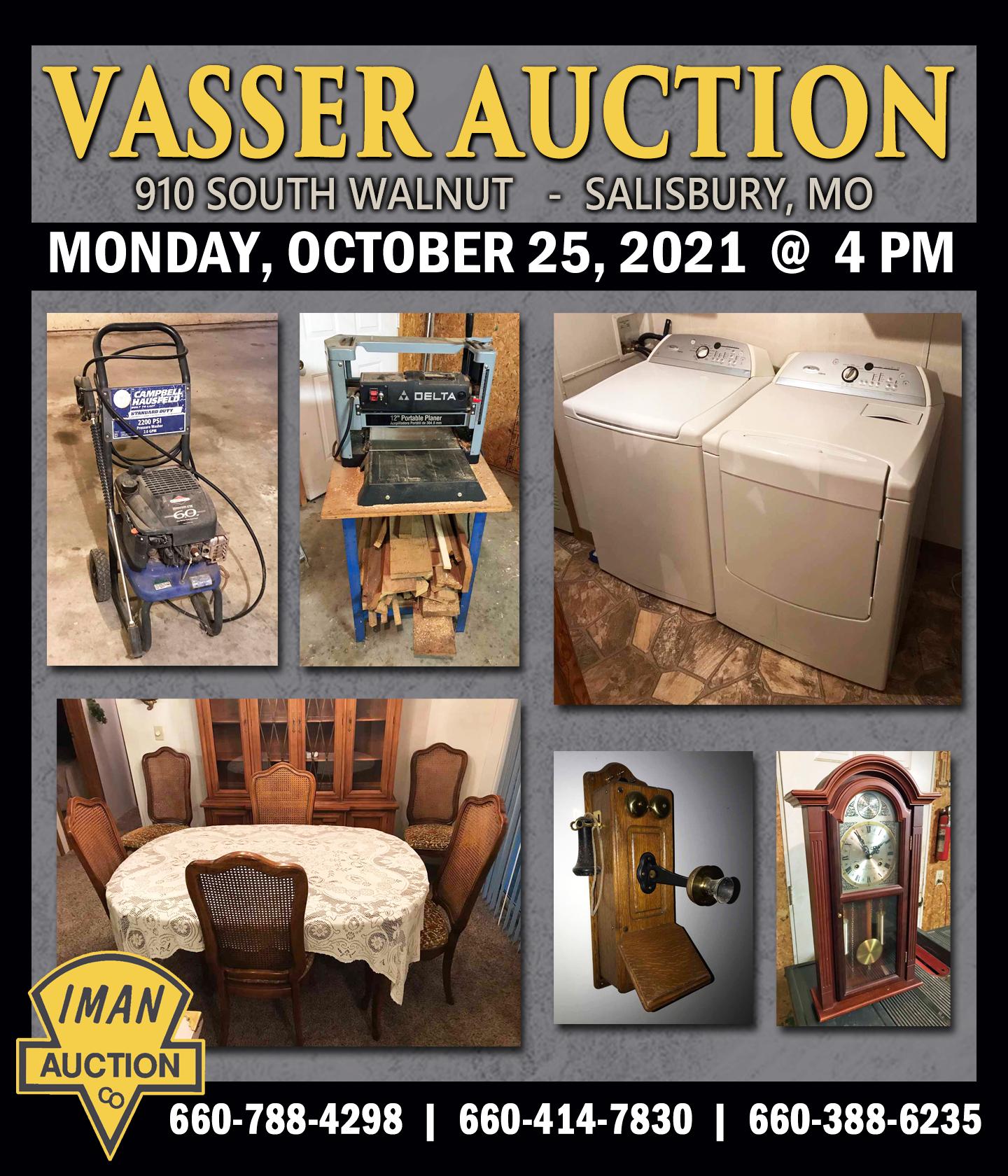 VASSER AUCTION