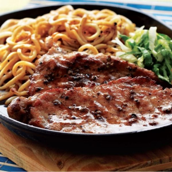 Sizzling Black Pepper Pork Chop Pan Mee