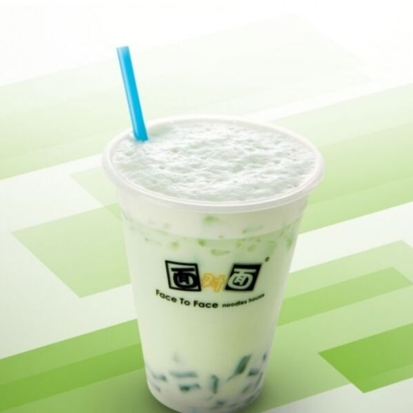 Honeydew Milk Tea with Green Tea Jelly