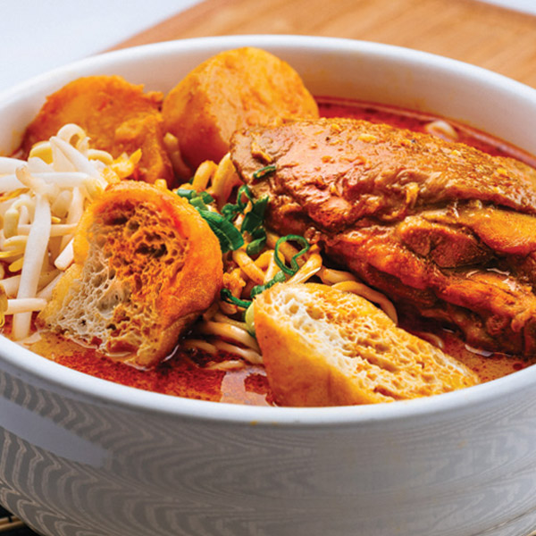 Curry Chicken Pan Mee (Soup)