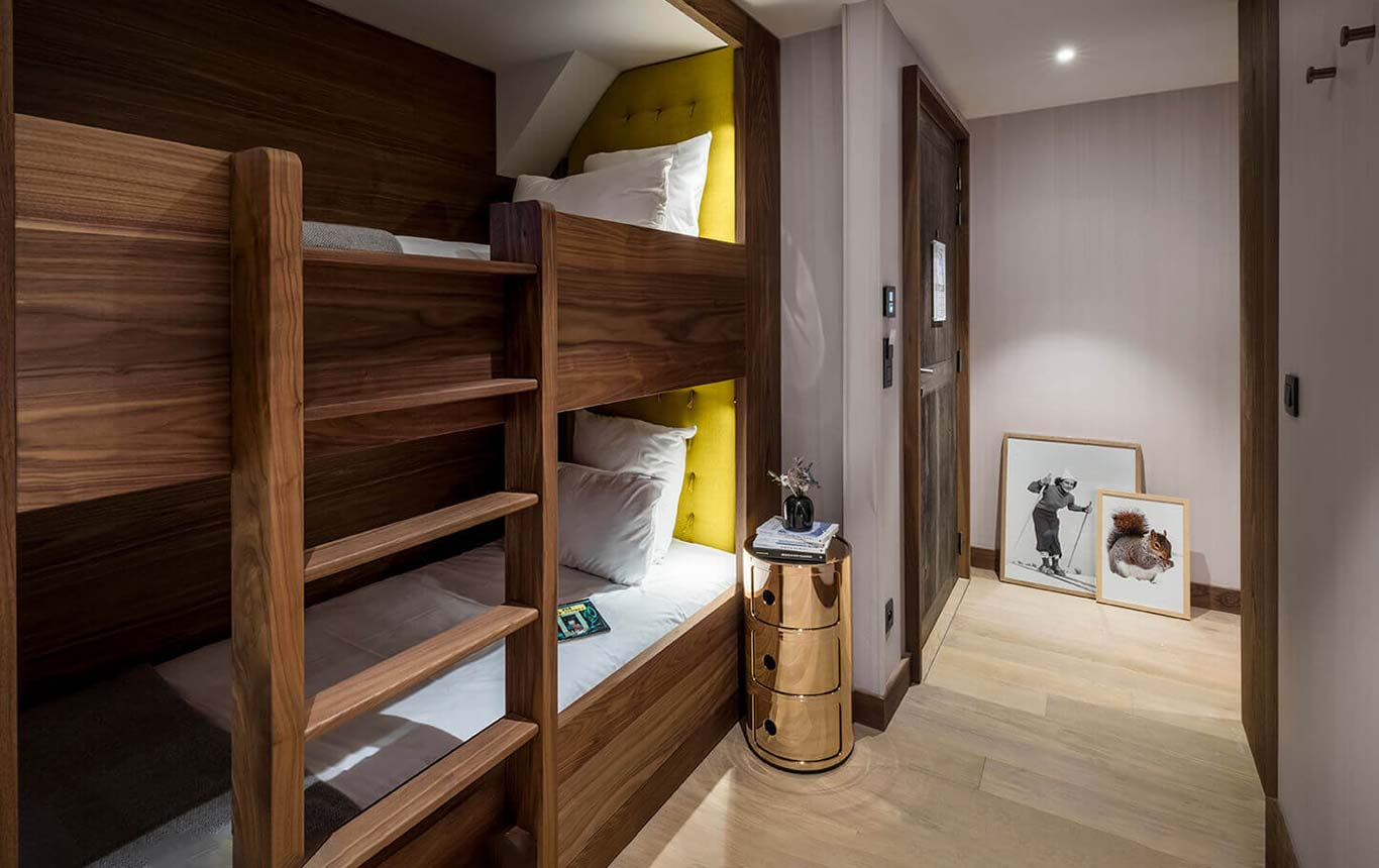 Family suite - children's room with bunk beds in an aniseed atmosphere