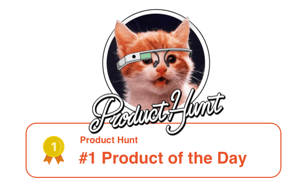 Product of the day on Product Hunt