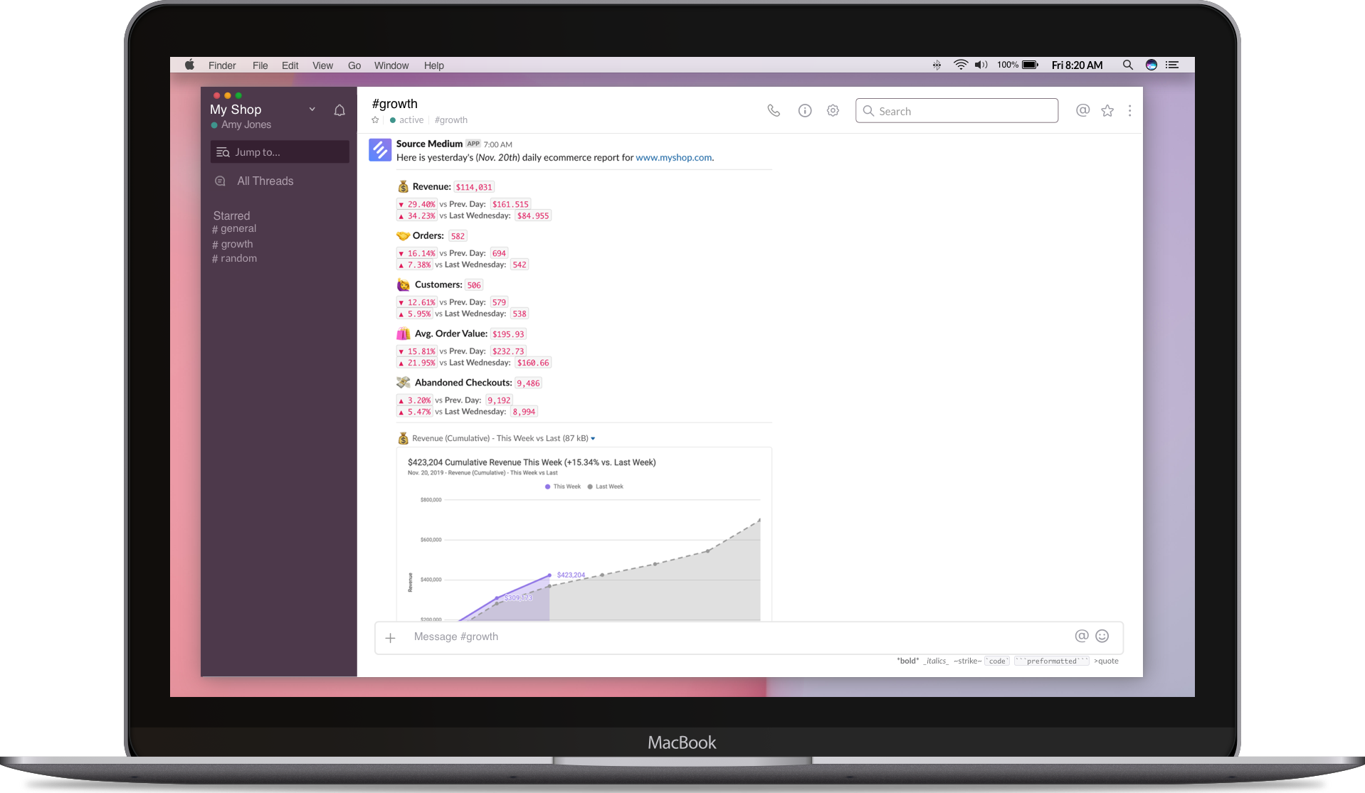 Source Medium desktop slack demo