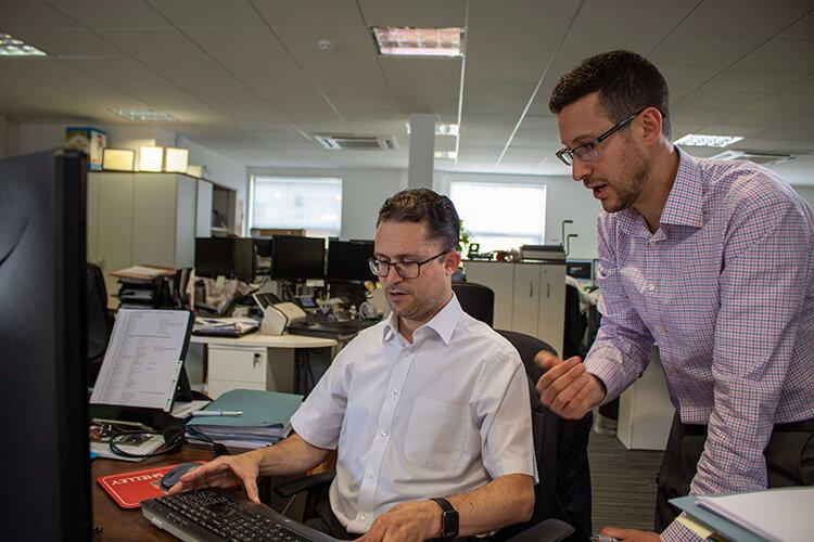 Adam with client, DSE assessment workshop