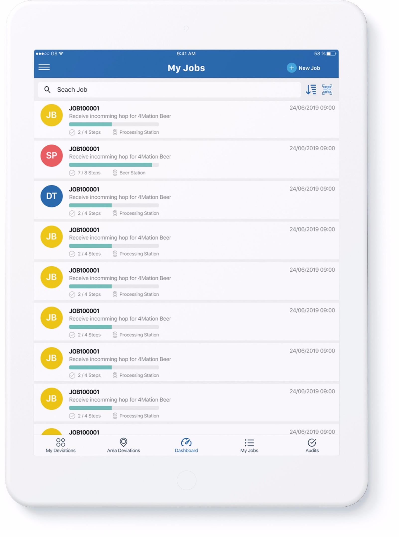Job management app iPad