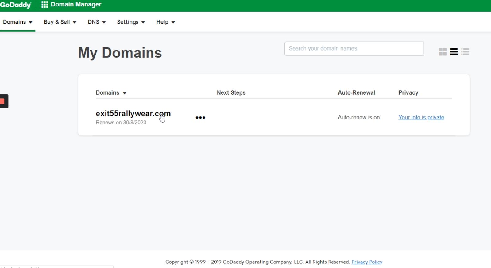 Change your domain Nameserver