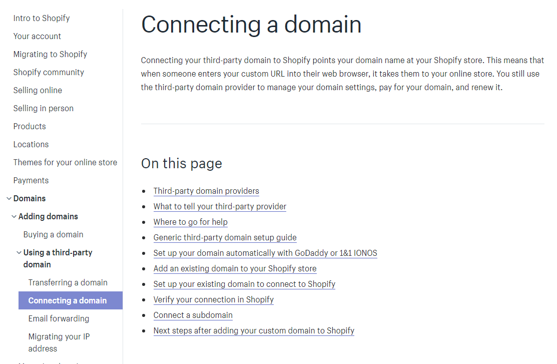 To associate an A record to your Domain