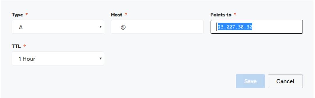 Click on Type menu