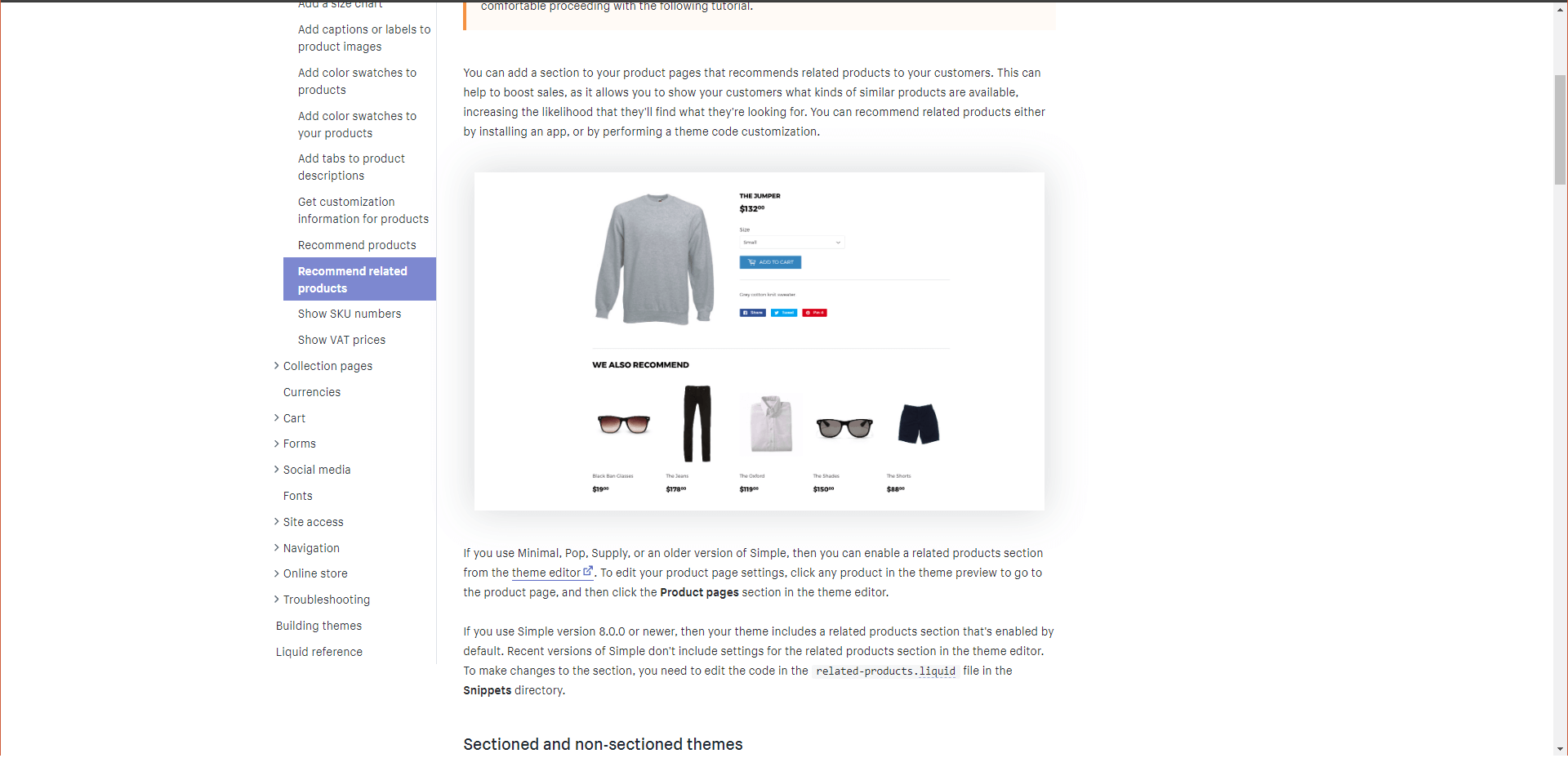 """Adding """"Related products"""" to your theme"""