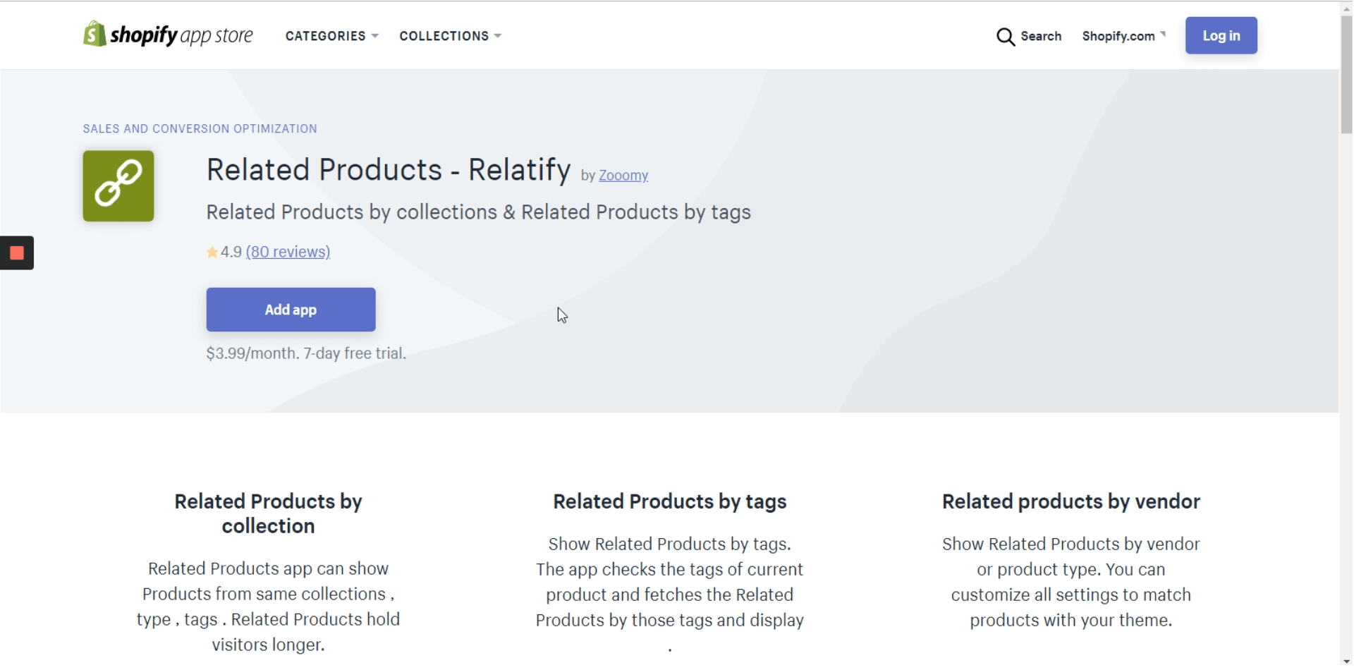 """Add an app to use """"Related products"""" option"""
