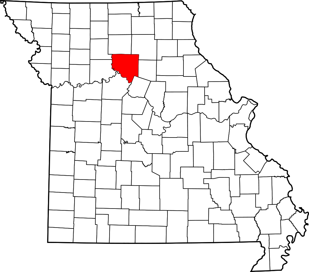 Location of Chariton County in Missouri