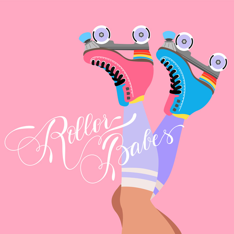 Roller babes pink