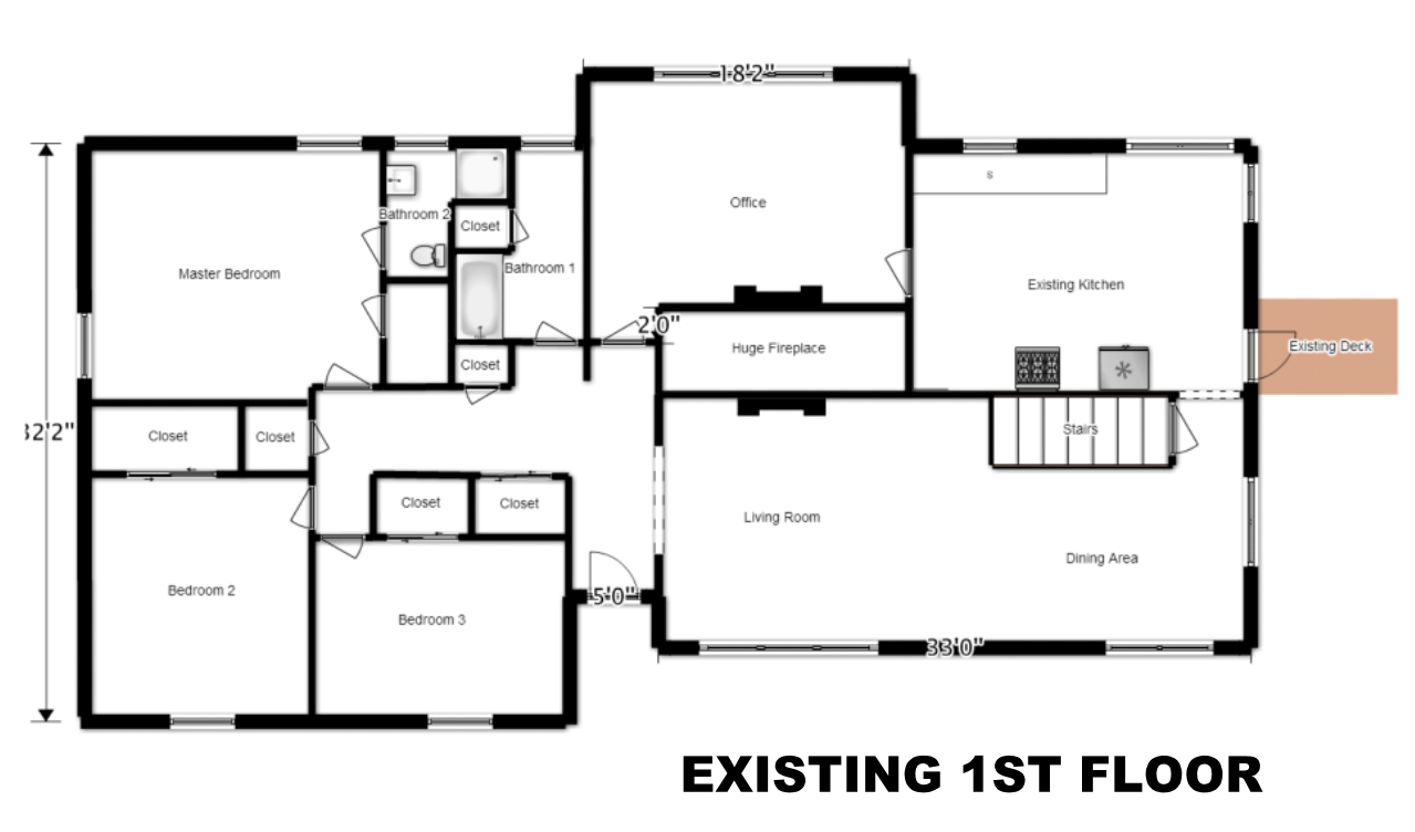 House Flip Existing Floor Plan Design