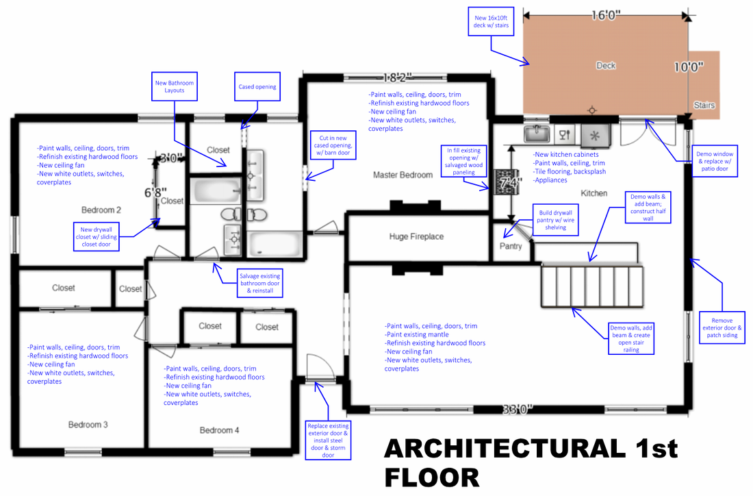 House Flip Architectural Floor Plan