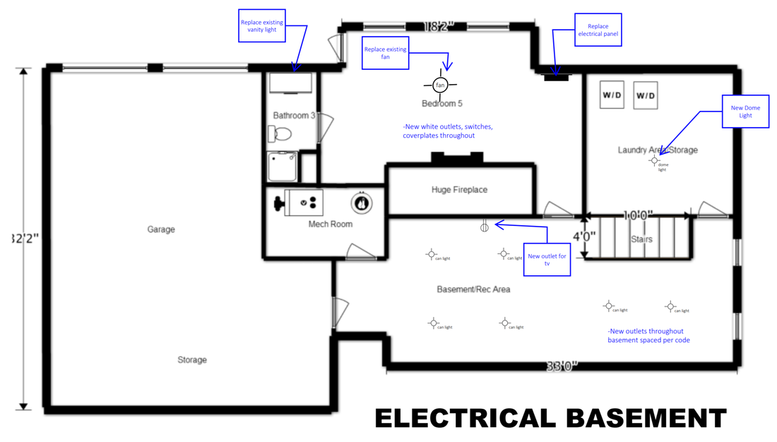 Electrical First Floor Plan