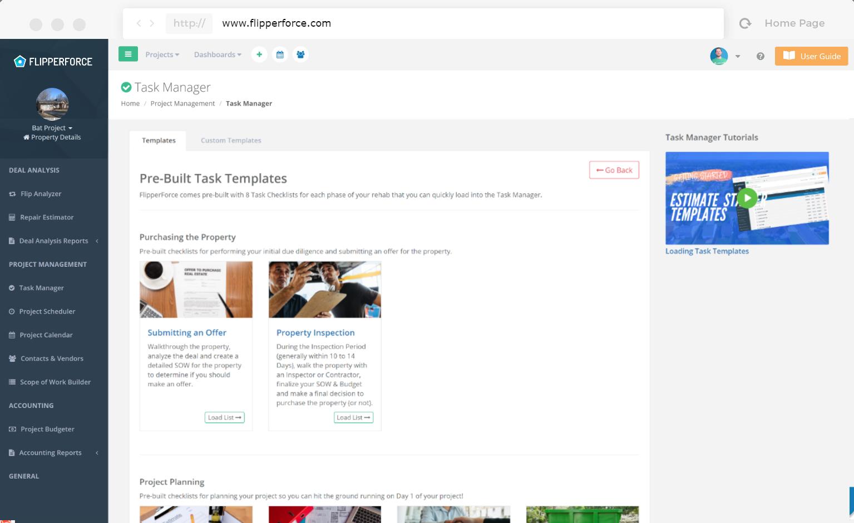 Task Template Starter Templates