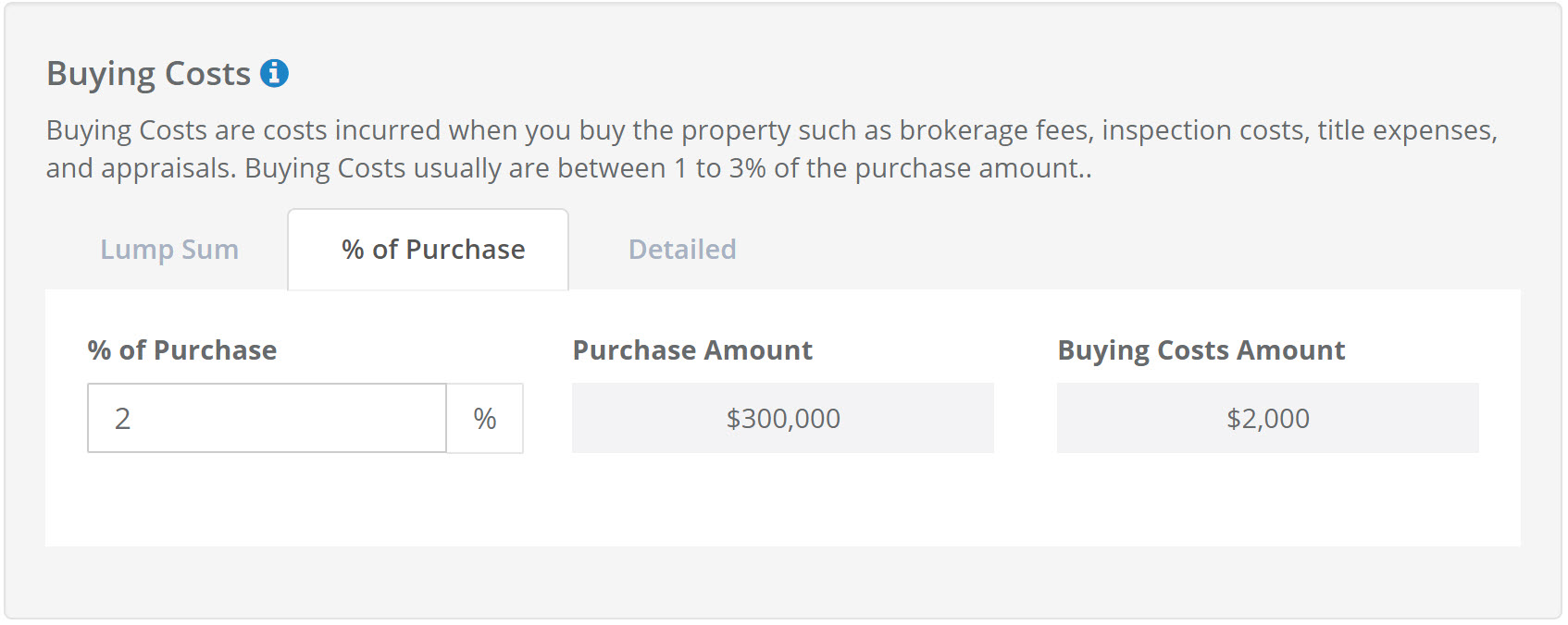 House Flip Buying Costs Calculator