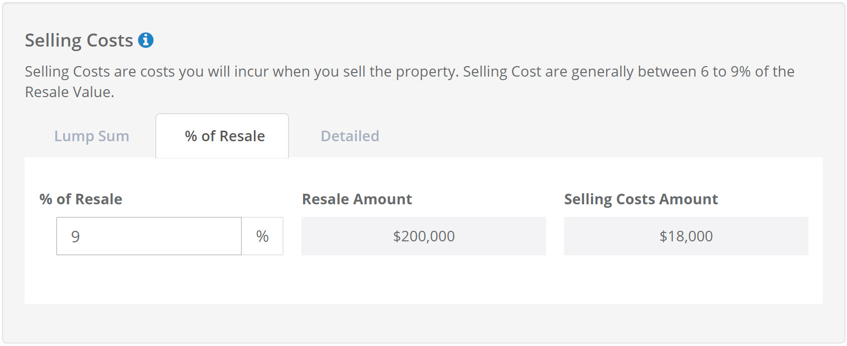 House Flip Selling Costs Calculator