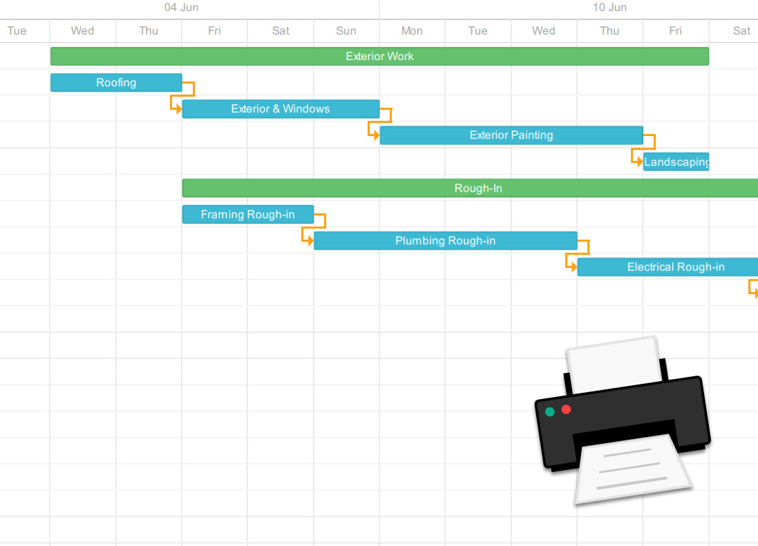New Print Schedules to PDF