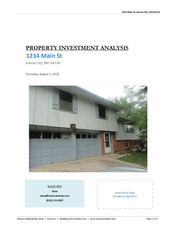 Rehab Property Investment Cover Page