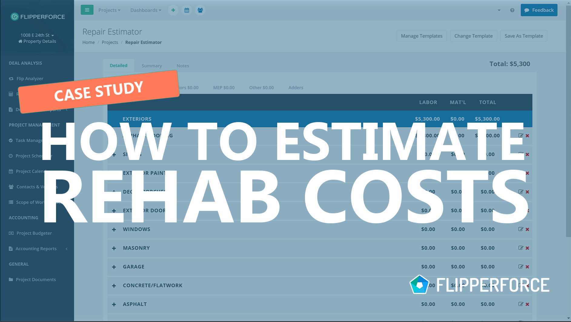 How to Estimate Rehab Costs Case Study