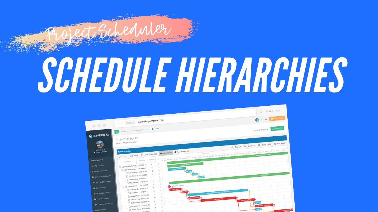 Creating Schedule Hierarchies & Grouping Tasks