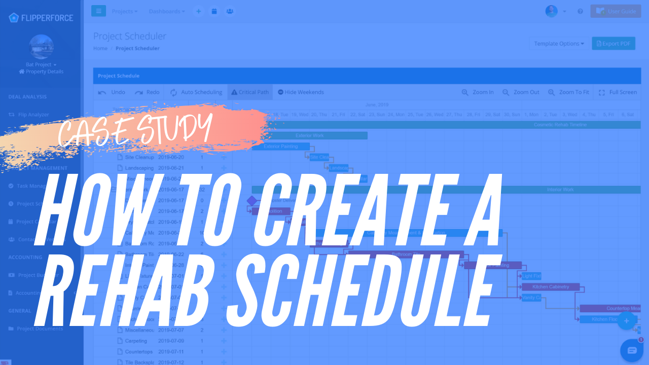 Case Study: How to Create a Project Schedule